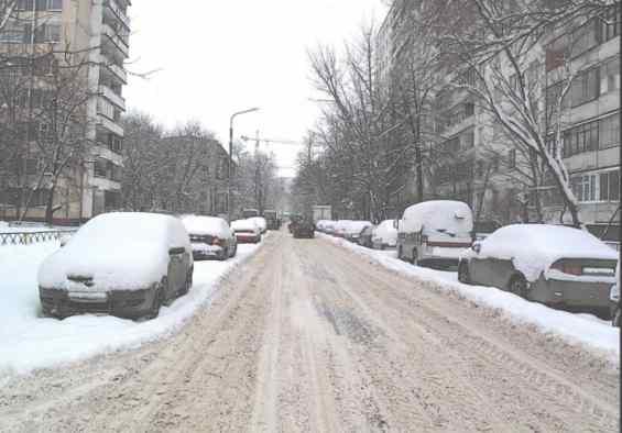 Штурвальная ул зимой