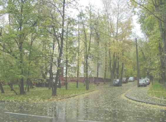 Подмосковная улица осенью