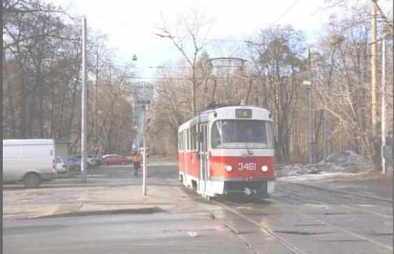 Трамвай на Авиационной ул Москва