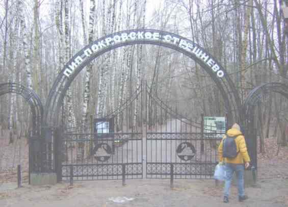 Ворота в парк возле поворота Никольского тупика Москва
