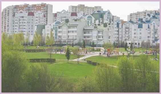 Москва район Митино. Живописная панорама