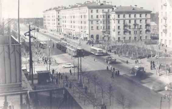 Пересечение ул Свободы и ул Мещерякова 1960 годы