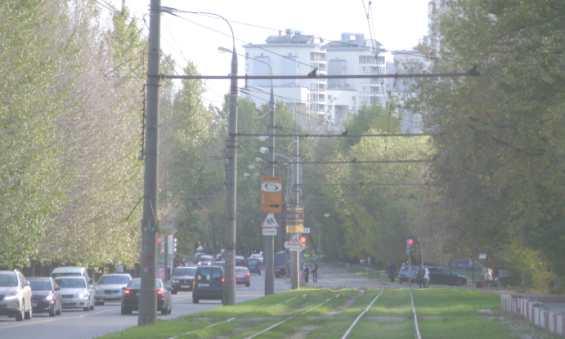 Живописная ул по направлению к столичному пр. Маршала Жукова