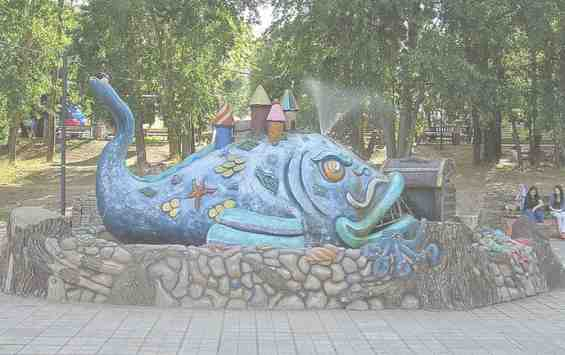 Фонтан по мотивам сказки П. П. Ершова в парке Северное Тушино